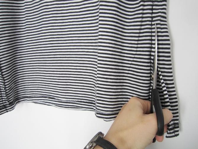 T-Shirt-an-seite-abnähen