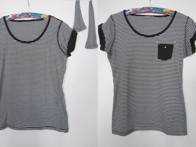 T-Shirt-gestreift-enger-machen