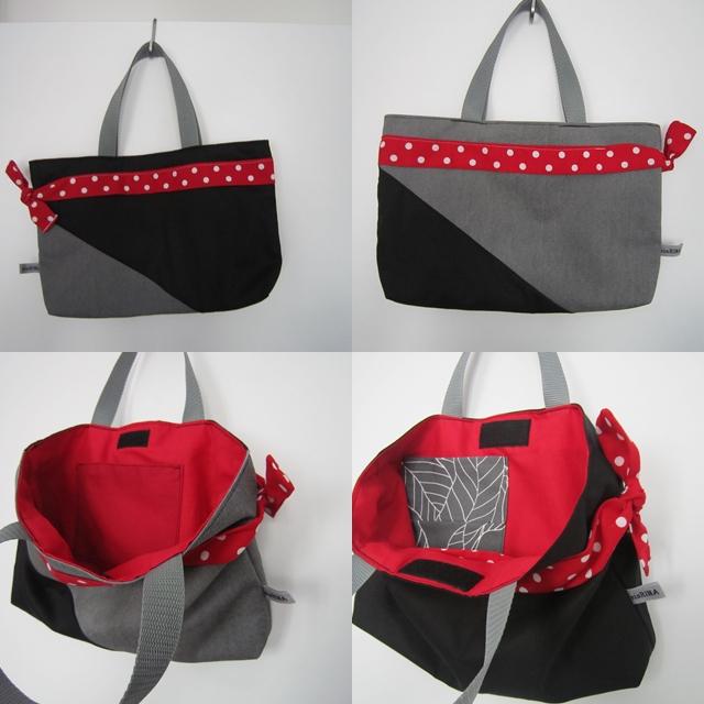Shopper für Herbst_rot-grau