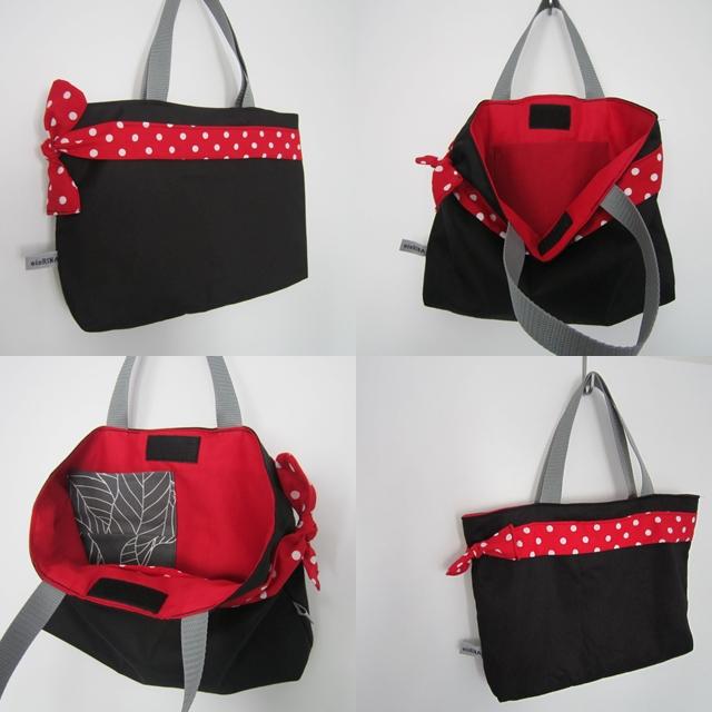 Shopper für Herbst_rot-schwarz